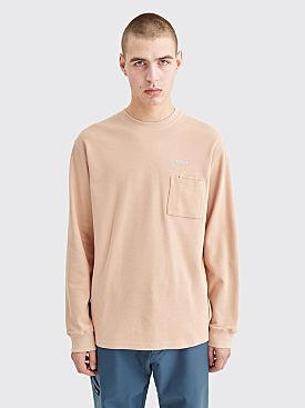 AFFIX Double Chest Pocket LS Waffle T-shirt Beige