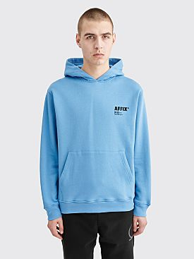 AFFIX Basic Logo Hooded Sweatshirt Blue