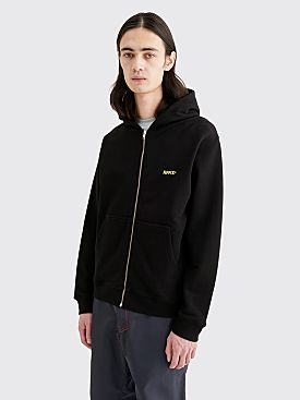 AFFIX Basic Zip Hooded Sweatshirt Black