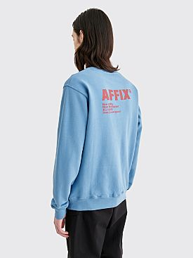 AFFIX Basic Logo Sweatshirt Blue