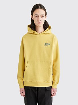 AFFIX Basic Logo Hooded Sweatshirt Sulphur