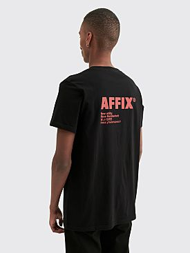 AFFIX Standardised Logo T-shirt Black