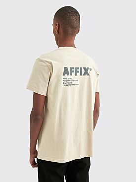 AFFIX Standardised Logo T-shirt Taupe