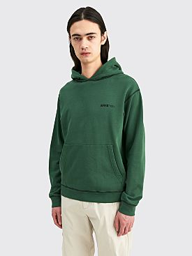 AFFIX Micro Logo Hoodie Deep Green