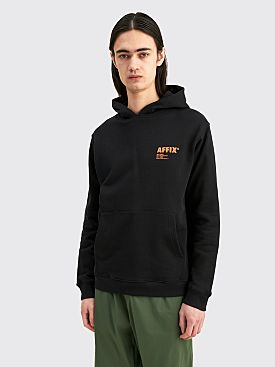 AFFIX Standardised Logo Hoodie Black / Orange