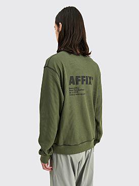 AFFIX Standardised Logo Sweatshirt Field Green