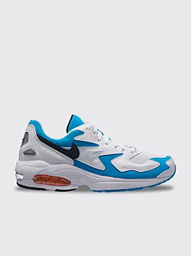 Nike Air Max2 Light White / Black / Blue Lagoon