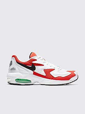 Nike Air Max2 Light White / Habanero Red