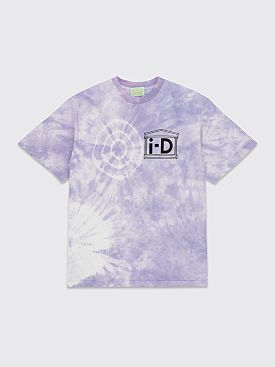 Aries x i-D Flower Tie Dye T-shirt Purple