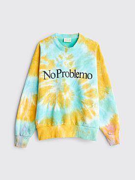 Aries No Problemo Tie Dye Sweater Yellow