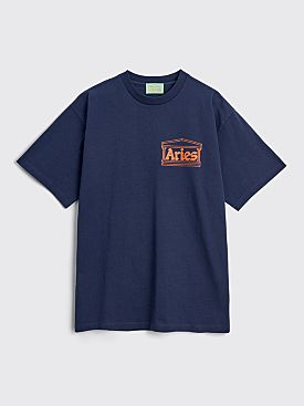 Aries Classic Temple T-shirt Navy