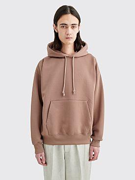 Auralee Baggy Sweatshirt Parka Pink Brown
