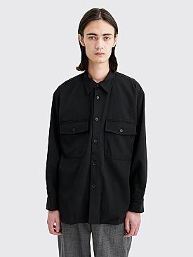 Auralee Wool Max Gabardine Shirt Black