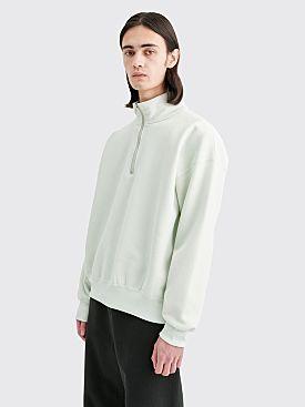 Auralee Baggy Half Zip Sweatshirt Mint Green