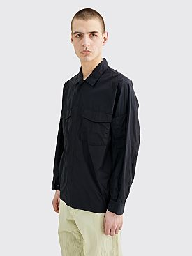 Auralee Light Nylon Zip Blouson Dark Navy