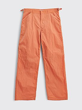 Auralee Hard Dye Nylon Pants Orange