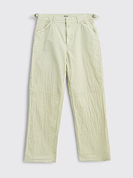 Auralee Hard Dye Nylon Pants Light Green