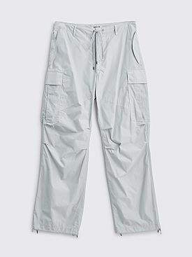 Auralee Light Nylon Fatigue Pants Light Blue