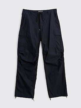 Auralee Light Nylon Fatigue Pants Dark Navy