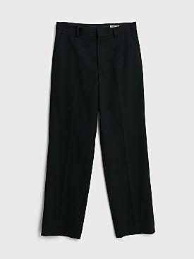Auralee Wool Max Gabardine Slacks Black
