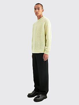 Auralee Alpaca Wool Super Light Knit Big P/O Light Yellow