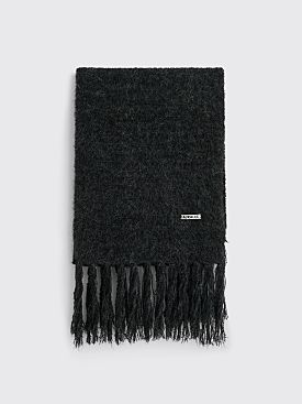 Auralee Alpaca Wool Super Light Knit Stole Top Charcoal