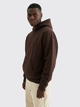 Auralee Double Cloth Puffer P / O Parka Sweatshirt Dark Brown