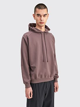 Auralee Super Soft Sweat Big P/O Parka Purple