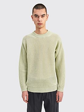 Auralee Hemp Rib Knit Big P/O Light Green