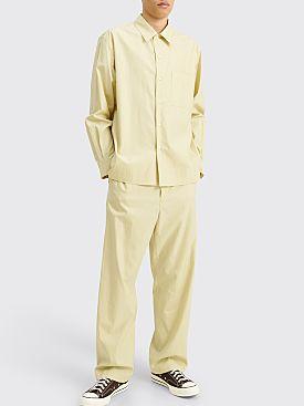 Auralee Washed Finx Twill Box Shirt Light Yellow