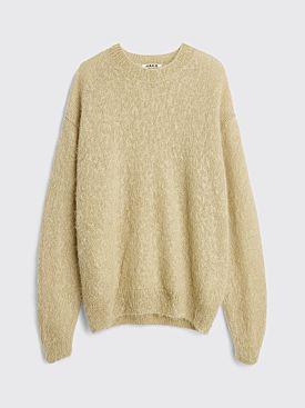Auralee Brushed Super Kid Mohair Knit P/O Sweater Light Beige