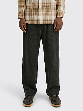 Auralee Cashmere Wool Brushed Jersey Pants Top Charcoal