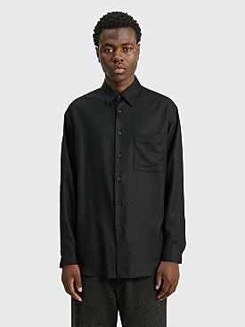 Auralee Super Light Wool Shirt Black