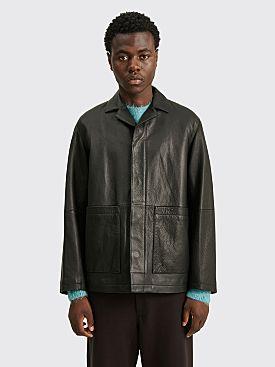 Auralee Goat Leather Jacket Black