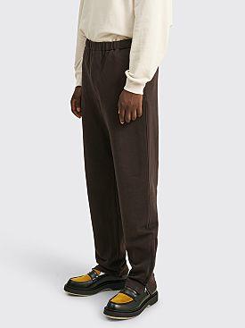 Auralee Super Soft Heavy Sweat Pants Dark Brown
