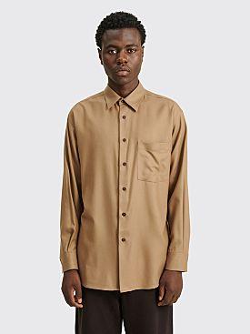 Auralee Super Light Wool Shirt Brown