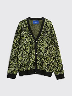 Awake NY Paisley Cardigan Green / Black