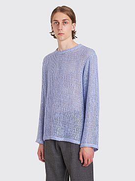 Bianca Chandôn Silk Burlap Pullover Dusk Blue