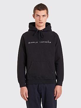 Bianca Chandôn Handwritten Logo Hooded Sweatshirt Black