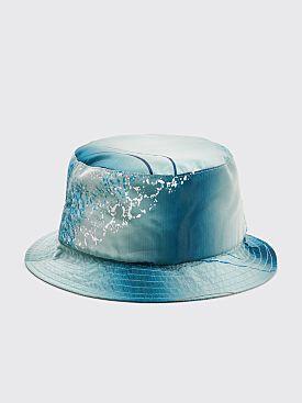 Bianca Chandôn Silk Taffeta Bucket Hat Turquoise