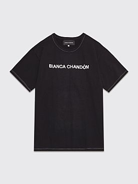 Bianca Chandôn Contrast Stitch Logotype T-shirt Black