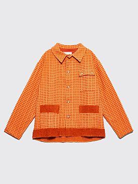 Bode Chenille Workwear Jacket Orange
