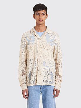 Bode Quaker Lace Havana Shirt Ecru