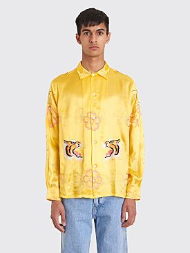 Bode Tiger Ruching Shirt Yellow