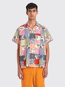 Bode Kolkata Patchwork Shirt Multi Color