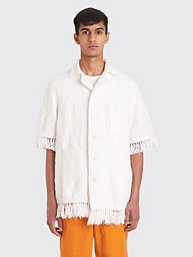 Bode Toweling Louie Shirt White