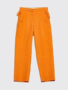 Bode Linen Side Tie Pants Marigold
