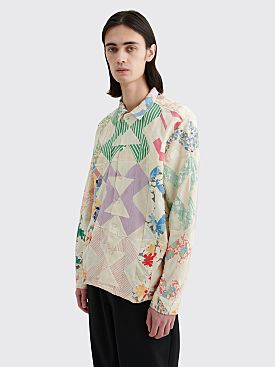 Bode Patchwork Havana Shirt Multi Color