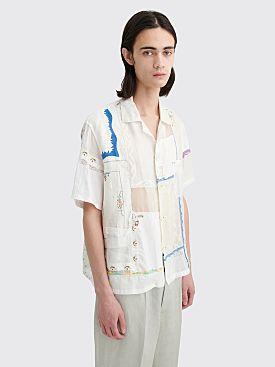 Bode Handkerchief Bowling Shirt White