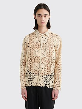 Bode Crochet Lace Havana Shirt Natural
